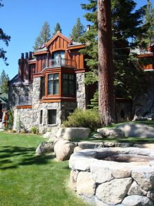 Arvay Residence Exterior Architecture Back, Lake Tahoe, CA. 38.959954°N, -119.942527°W