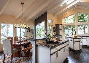 Day Residence, Interior Architecture Kitchen, Big Sur, CA. 36.361475°N , -121.856261°W