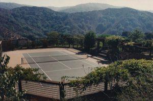 Horton Residence, Exterior Architecture, Tennis Court, Los Altos, CA. 37.385218°N, -122.114130°W