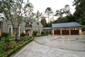 Louie Residence, Exterior Architecture Front, Woodside, CA. 37.429939°N, -122.253856°W