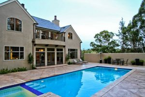 Louie Residence, Exterior Architecture Pool, Woodside, CA. 37.429939°N, -122.253856°W