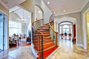 Louie Residence, Interior Architecture Stairs, Woodside, CA. 37.429939°N, -122.253856°W