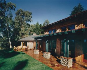 Manson Residence, Exterior Architecture Front, Santa Cruz, CA. 36.974117°N, -122.030796°W