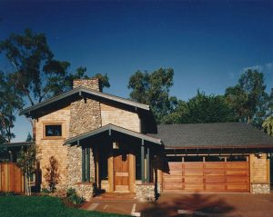 Manson Residence, Exterior Architecture Back, Santa Cruz, CA. 36.974117°N, -122.030796°W