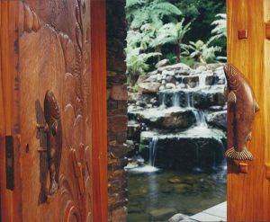 Treetops Lodge, Interior Architecture Door, Rotorua, New Zealand, -38.136848°S, 176.249746°E