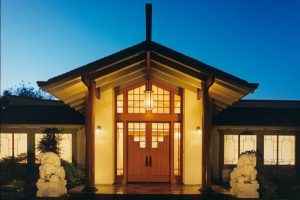 Wang Residence, Exterior Architecture Front, Saratoga, CA. 37.263832°N, -122.023015°W