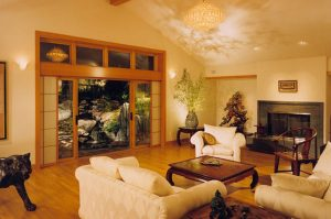 Wang Residence, Interior Architecture Living Room, Saratoga, CA. 37.263832°N, -122.023015°W