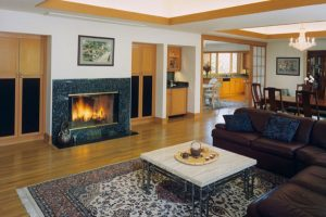 Wang Residence, Interior Architecture Fireplace, Saratoga, CA. 37.263832°N, -122.023015°W